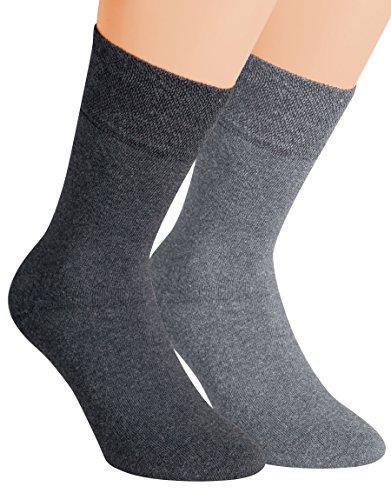 Vitasox 32036 Herren Wellness Socken Baumwolle Frotteesohle Baumwollsocken Arbeitssocken ohne Gummi 6er Pack Silber 43/46