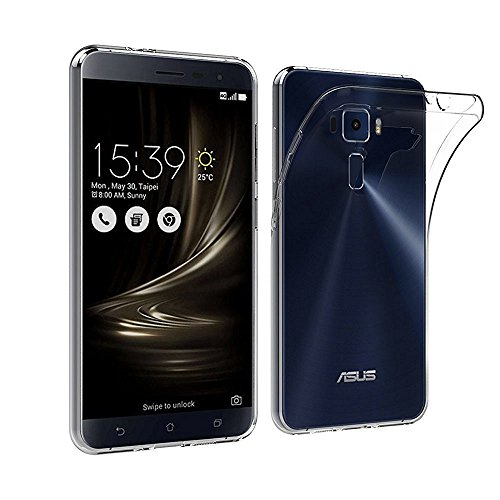 Plus Perfect Exclusive Soft Silicone TPU 0.3mm Transparent Clear Case Soft Back Case Cover for Asus Zenfone 3 ZE552KL