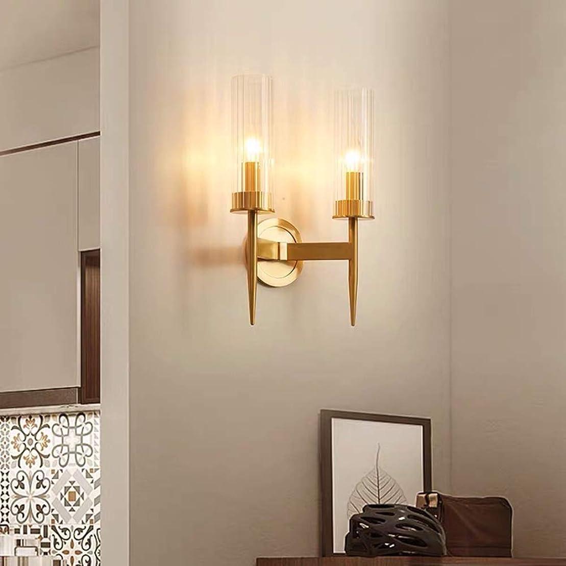 ハウジング王室科学Rjj シンプルな背景の寝室のベッドサイドランプを生きているすべての銅シングルヘッド銅は廊下灯23 * 12 * 40CMウォール通路 あたたかい