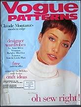 VOGUE PATTERNS magazine November / December 1994 (Fashion, sewing, Claude Montana's modern edge, designer wardrobes)