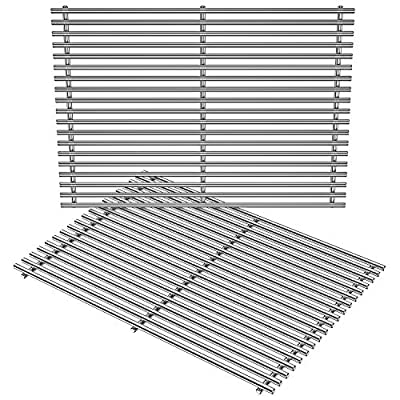 Stanbroil Stainless Steel Cooking Grate for Weber Genesis II and Genesis II LX 300 Series Gas Grills, Replacement Parts for Weber 66095 - Set of 2