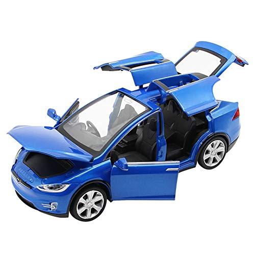 Comtervi - Modellino Auto Giocattolo in Lega con Effetti sonori e luci per Bambini, Scala 1:32, Blu, 15,5 * 5,5 * 4,5 cm