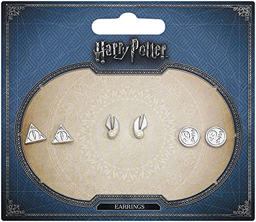 HARRY POTTER Symbols Femme Set de Boucles d'oreilles Couleur Argent, Alliage Zinc,