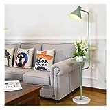 SHUTING2020 lámpara de Piso 59.1'Bandeja Minimalista LED lámpara de pie de Color Hierro Moderno de pie luz de Arco de pie con Pantalla de lámpara Ajustable y Base de mármol Redondo Lámpara de Pie