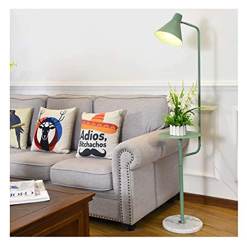 Lámparas de pie 59.1 'Bandeja minimalista LED lámpara de pie de color Hierro moderno de pie luz de arco de pie con pantalla de lámpara ajustable y base de mármol redondo Iluminación de interior