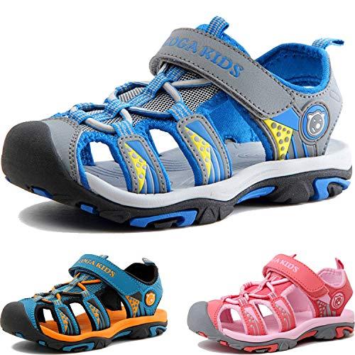 Sandalen Jungen Mädchen Geschlossene Sportliche Sandalette Kinder Atmungsaktiv Strandschuhe Outdoor Trekkingsandalen Mit Klettverschluss