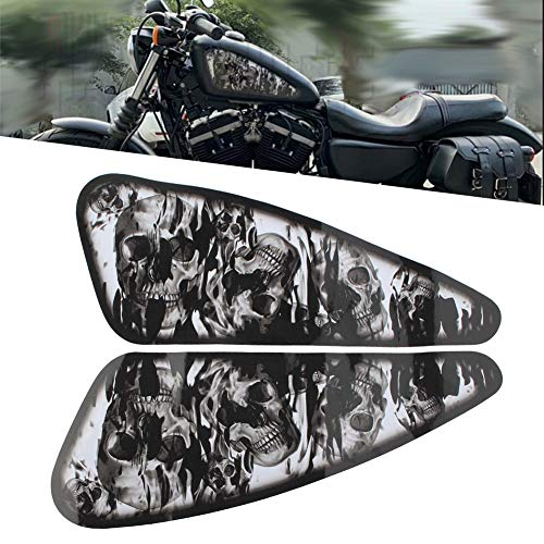 Newsmarts Motorcycle 3D Gas Tank Protector Fuel Oil Tank Pad Decal for Harley Sportster XL 883 1200 Softail Dyna Bobber