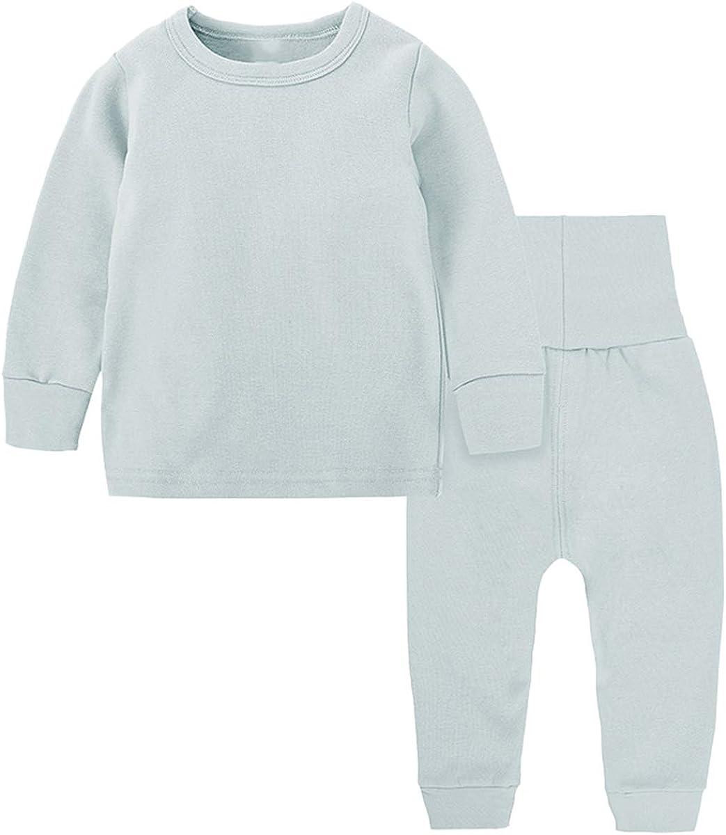 Toddler Boy's Thermal Underwear Set Base Layer Top & Bottom Set, Blue, 4-5T = Tag 130