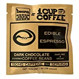 Edible Espresso - Dark Chocolate Covered Coffee Beans (1pk) ~150mg of caffeine – equivalent to one cup of coffee! Plant-Based, Non-GMO & Dairy-Free Energy! (Original Beans 20pk)