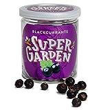 Supergarden grosella negra liofilizada - Snack saludable - Producto 100% puro y natural - Apto para veganos - Sin azúcares, aditivos artificiales ni conservantes añadidos - Sin gluten - No OMG