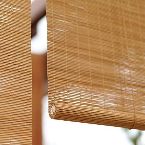 Geovne Maison Rideau en Bambou,Taux de Shading 50%,Store en Bambou pour Fenêtre Porte,Facile À Installer,Store Enrouleur Intimité Et Coupe-Vent,Store Vénitien,Carbonisation (55x170cm 21.7x66.9in)
