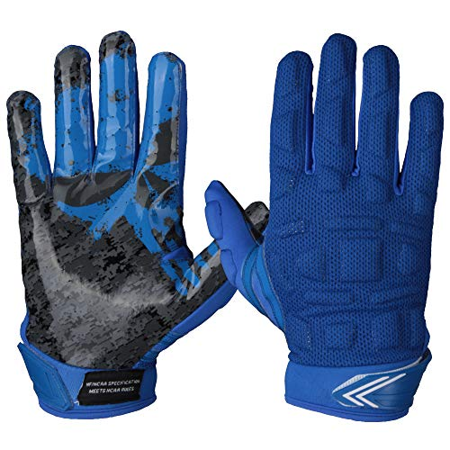 Full Force Player leicht gepolsterte Multiposition Football Handschuhe - royal Gr. XL