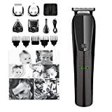 ZZYYZZ 3 in 1 Multi Professional Hair Clippers, Quiet Rechargeable Cordless Clippers Hair Trimmer Beard Shaver for Men and Family Use