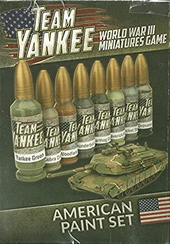 Team Yankee - World War Iii Miniatures Game - American Paint Set (8 Paints) by Flames of War