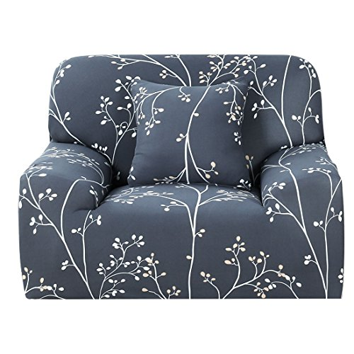 uxcell Printed Sofa Cover Stretch Couch Cover Sofa Slipcovers for Armchairs Universal Elastic Furniture Protector with One Pillow Case (Floral Tree Branch, Chair-1seater)
