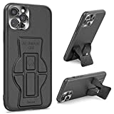 Tuerdan iPhone 11 Pro Case with Kickstand, [Leather Case] Vertical and Horizontal Foldable Kickstand [Support Magnetic Car Mount] Protective Stand Cover for iPhone 11 Pro 5.8, Black