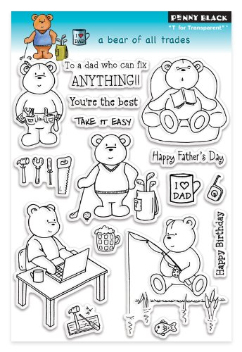 Penny Black 30-108 A Bear of All Trades Clear Stamp