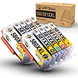 CMYBabee 580 581 Cartuccia d'inchiostro compatibile per Canon PGI-580XXL CLI-581XXL Uso per Canon Pixma TS6150 TS6151 TS6152 TR7550 TS8150 TS8151 TS8152 TR8550 (2PGBK/2 Nero/2Ciano/2Magenta/2Giallo)