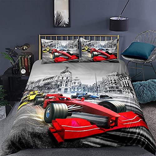 QWAS Motocross Bettwäsche. Dirt Bike Xtreme Sport Bettbezug Set, Mikrofaser Bettbezug für Männer, Jugendliche, Jungen und Kinder, (Bike6,135X200cm+50x75cmx2)