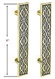 AIG Zipper Decorative Brass Door Pull Handle (Pack of 2, 8 INCH)