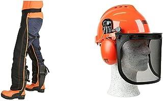 Oregon - Perneras de Seguridad Tipo A Universales para uso con motosierra + 562412 Yukon - Casco de seguridad con protecto...