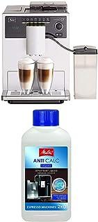 Lot avec Melitta Caffeo CI, Machine à Café, Expresso et Boissons Chaudes Automatique, Réservoir à Lait Inclus, Argent, E97...