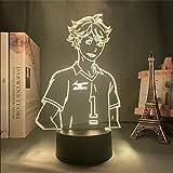 3D Illusion d'optique Lampe Tactile Avec Télécommande changeant Enfant Parfait D'anniversaire De Noël Cadeau Maison Chambre Décoration Lampe De ChevetHaikyuu Oikawa Tooru