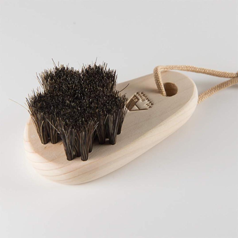 軸安定した汚す浅草アートブラシ 馬毛のフットブラシ「さくら」