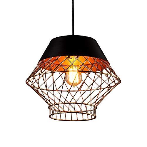 JIAXIAOYAN - Lámpara de techo de acero inoxidable con lámpara de techo de estilo vintage, diseño de jaula de pájaros