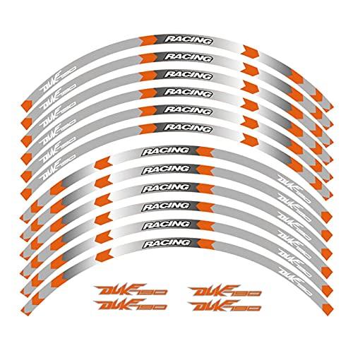 wjyfexble Motocicletas Pegatinas Rueda Reflectante Rim Moto Stripe Pegatina Reflectante Compatible con KTM Duke 125 250 390 790 1290S WYJHN (Color : 1)