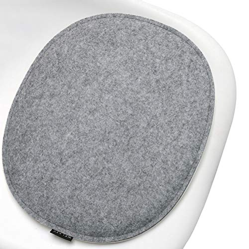 Welaxy Felt Chair Pads seat Cushion Minimalist for Eames Chair DSW Plastic Chairs Pads for Office Indoor Home Dining Kitchen for him(Grey + Charcoal, 1)