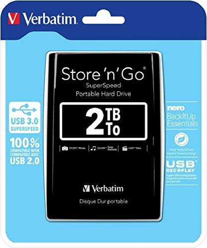 Verbatim 53177 externe Festplatte (6,4 cm (2,5 Zoll), 5400rpm, USB 3.0) schwarz