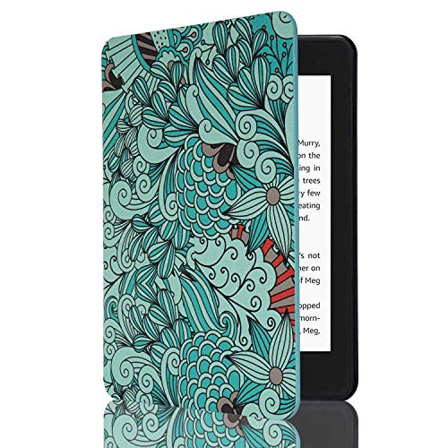 CoBak Kindle Paperwhite Case - Latest PU Leather Smart Cover with Auto Sleep Wake Feature for Kindle Paperwhite 10th Generation 2018 Release Pattern