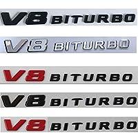 メルセデスベンツAMG 2017-2020 V8 BITURBO V8BITURBO、ChromeLetters Fender Badges Emblems
