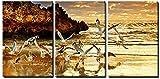 DIAMWAN 3pcs Leinwand Wandkunst Zwei Rock Perth in