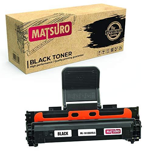 Matsuro Original | Compatible Cartucho de Toner Reemplazo para Samsung ML-1610D2/ELS (1 Negro)