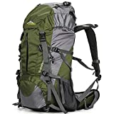 Loowoko Hiking Backpack 50L Travel Camping Backpack with Rain Cover...