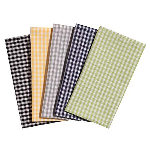 Taschentücher aus Stoff, waschbare, wiederverwendbare Öko Stoff-Taschentücher aus Baumwolle, 5 Taschentücher - Made in Germany (Landbub)
