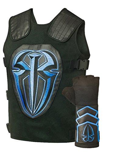 Roman Reigns Tactical Replica Vest Superman Punch Glove Costume-Blue,One Size,Blue