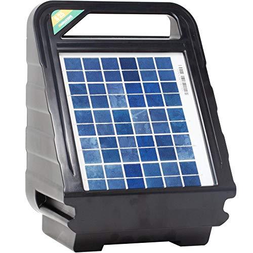 Agrarzone S25 Weidezaungerät 12V mit Solar 3 Watt, 0,4 Joule | Akku-Weidegerät & Solarmodul | Mobiles Elektrozaungerät für Weidezaun | Perfekte Hütesicherheit für Pferde Rinder, Elektrozaun