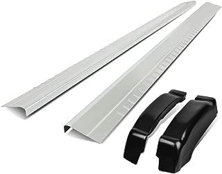 Pair Outer Rocker Panel + Rear Cap Corner Set for Chevy Silverado GMC Sierra 1500 2500HD 3500HD Extended Cab 99-07