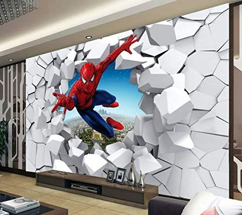 Papel De Parede Infantil Personalizado Murales Grandes De Spider-man Utilizados En La...