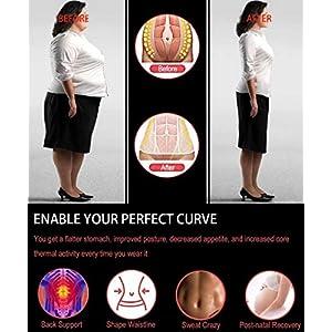 HOPLYNN Neoprene Sweat Waist Trainer Corset Trimmer Belt for Women Weight Loss, Waist Cincher Shaper Slimmer Black Medium