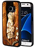 Galaxy S7 Edge Case, Slim Anti-Scratch Shockproof Silicone TPU Protective Cover for Samsung Galaxy S7 Edge, Cute Kittens Overlay