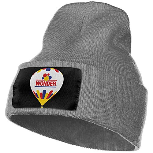Yearzimn Men's&Women Knit Hat Cap Logo of Wonder Bread Outdoor Knit Hat Deep Heather