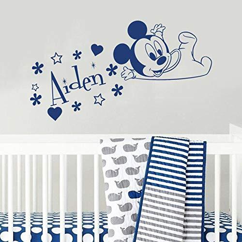 fdgdfgd Wandtattoos Maus Kinder Jungen Mädchen Schlafzimmer Kindergarten Babyzimmer Hauptdekoration Vinyl Fenster Aufkleber 74x133cm