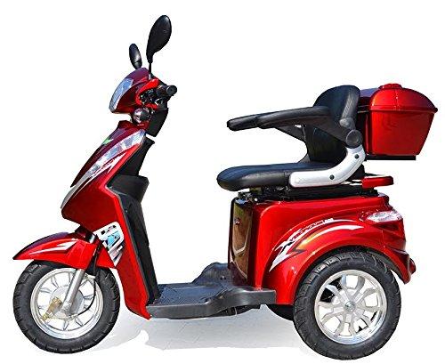 Elektromobil ECO Engel 501 (Rot), 25 km/h, 1000 Watt, E-Scooter E-Roller Senioren-Scooter mit Straßenzulassung