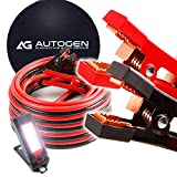 Heavy Duty Jumper Cables 1 Gauge x 25Ft 900A Booster Cables cables with Professional Grade Clamps by AUTOGEN