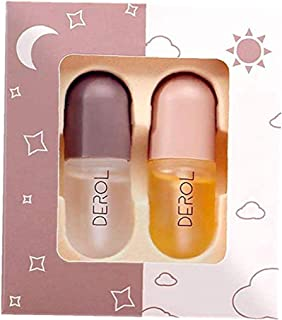Lip Plumper Set 5 5ML Mini Natural Lip Care Serum Mouth Enhancer Plumper Gloss for Fuller Softer Hydrated Mouth 2PCS cosme...