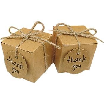10-50Pcs Candy Box Kraft Paper Pillow Gift Boxes Wedding Party Favors Bags Decor